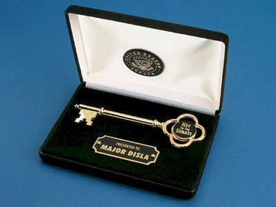 Gold Key In Black Presentation Box